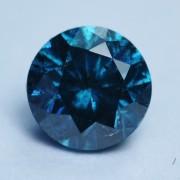 NATURAL DIAMOND COLOR BLUE  CT.0,19