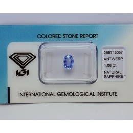NATURAL SAPPHIRE CERTIFIED CT 1,08