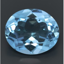 NATURAL BLUE TOPAZ CT.5,28 OVAL