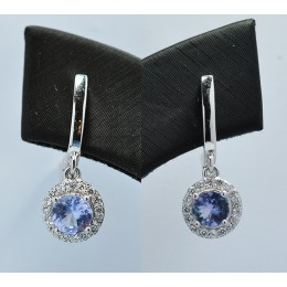 TANZANITE NATURAL IN SILVER EARRING
