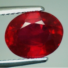 NATURAL RUBY OVAL SHAPE CT. 3,67