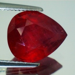 RUBY NATURAL PEAR CUT 6,60 CT.