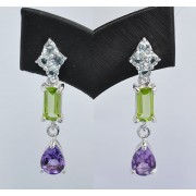 GEMSTONES DANGLE EARRING