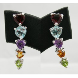 SILVER EARRING WITH NATURALS GEMSTONES
